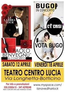 Bugo e Benvegù al Teatro Centro Lucia